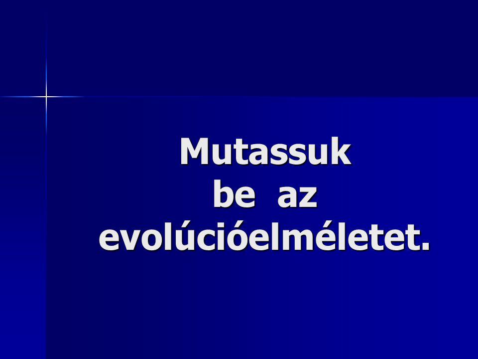 Mutassuk be az evolúcióelméletet.
