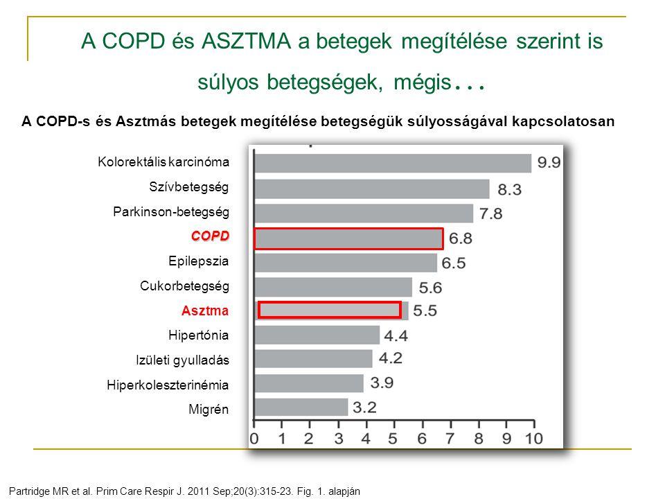 A COPD és ASZTMA a betegek megítélése szerint is súlyos betegségek, mégis … Partridge MR et al. Prim Care Respir J. 2011 Sep;20(3):315-23. Fig. 1. ala