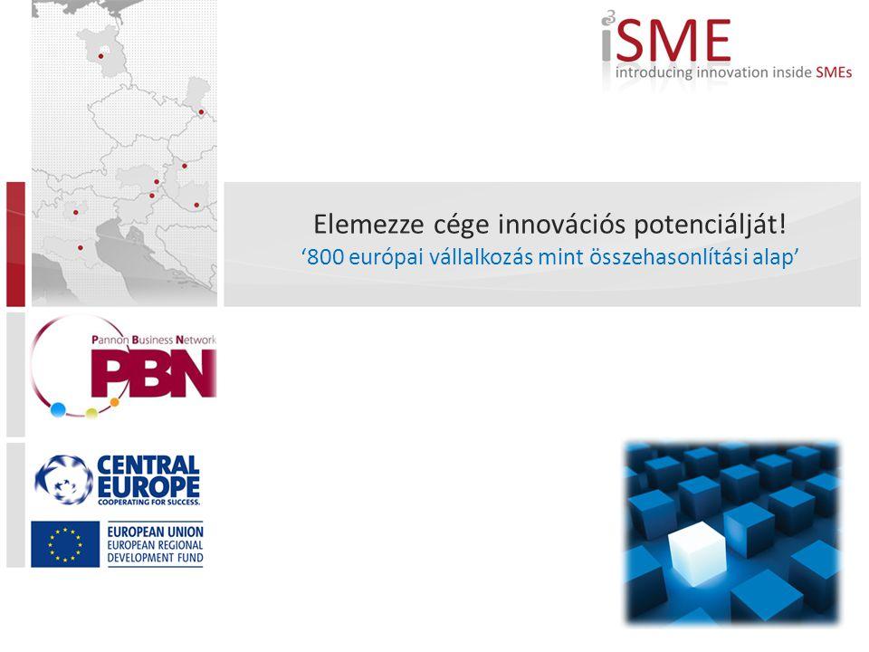 Elemezze cége innovációs potenciálját! '800 európai vállalkozás mint összehasonlítási alap'