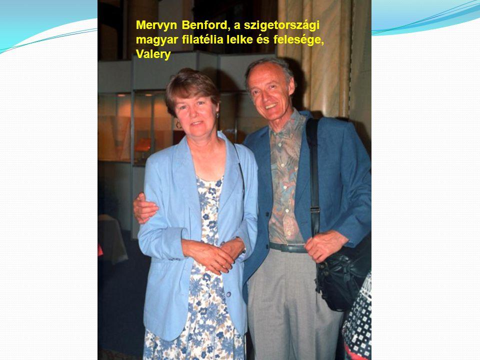 Mervyn Benford, a szigetországi magyar filatélia lelke és felesége, Valery
