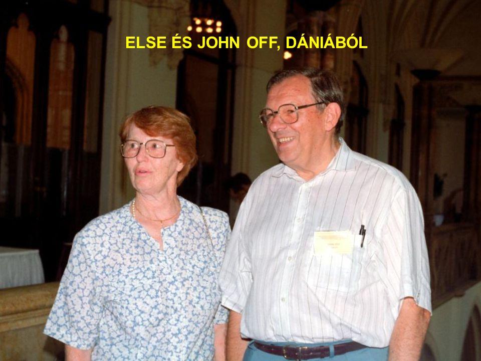 ELSE ÉS JOHN OFF, DÁNIÁBÓL