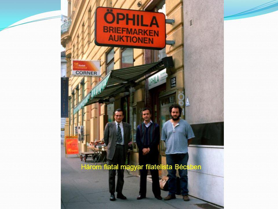 Három fiatal magyar filatelista Bécsben