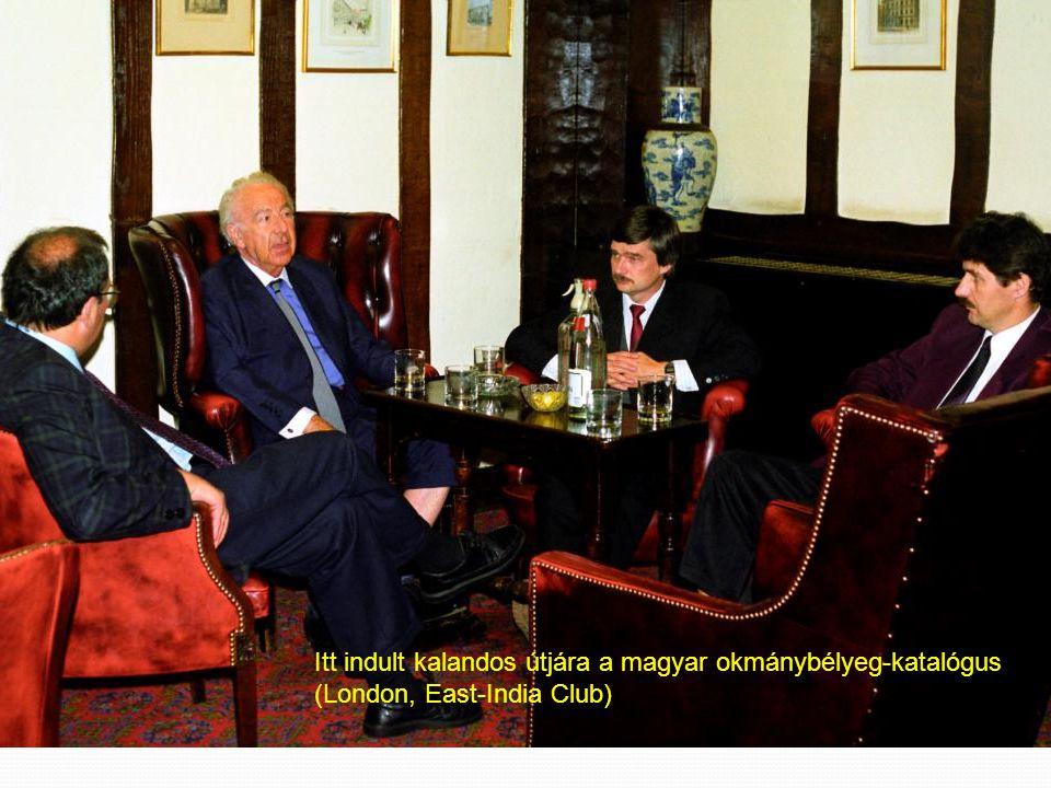 Itt indult kalandos útjára a magyar okmánybélyeg-katalógus (London, East-India Club)