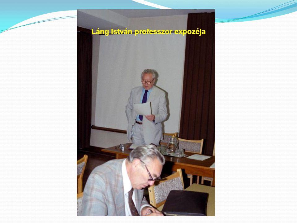 Láng István professzor expozéja