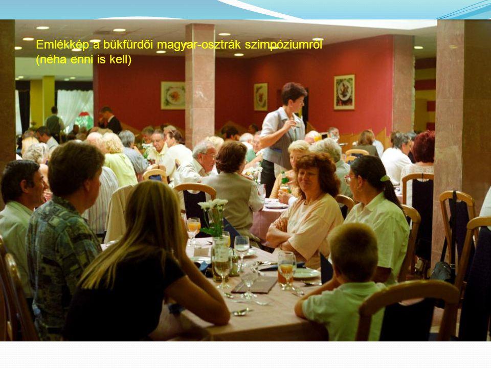 Emlékkép a bükfürdői magyar-osztrák szimpóziumról (néha enni is kell)