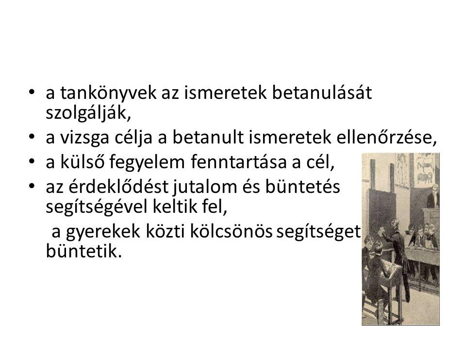 John Dewey (1859-1952) Maria Montessori (1870-1952) Célestin Freinet (1896-1966) Peter Petersen(1884-1952) Jénaplan- iskola Rudolf Steiner – Waldorf iskola