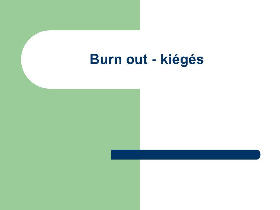 Burn out - kiégés