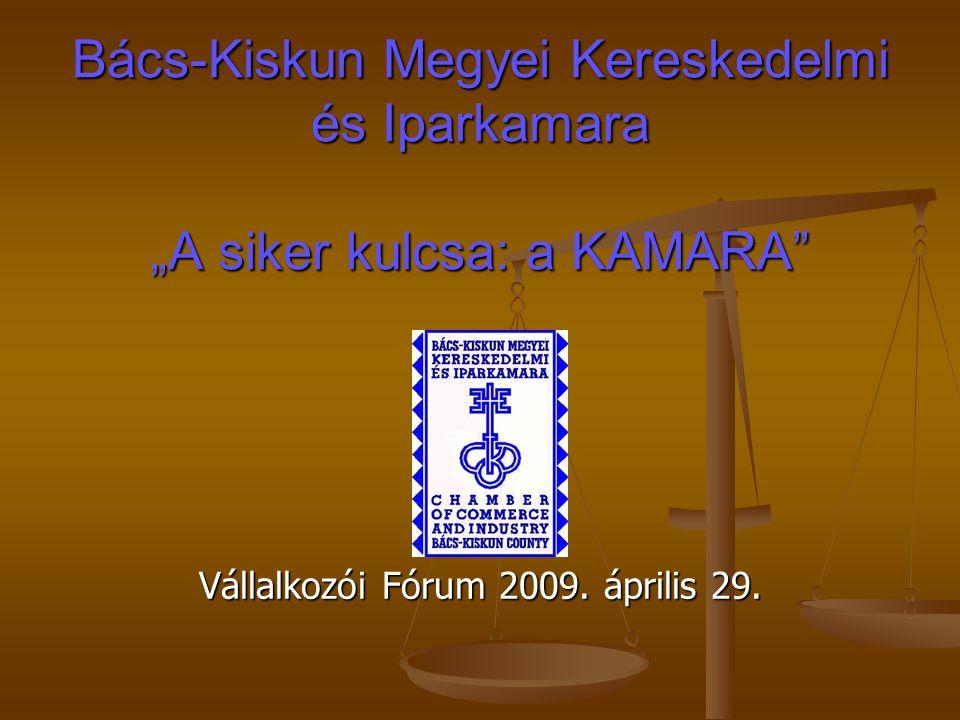 """Bács-Kiskun Megyei Kereskedelmi és Iparkamara """"A siker kulcsa: a KAMARA"""" Vállalkozói Fórum 2009. április 29."""