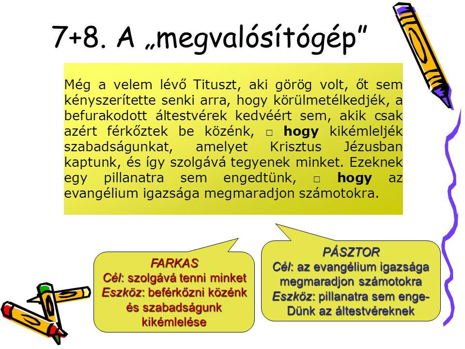 """7+8. A """"megvalósítógép"""" Még a velem lévő Tituszt, aki görög volt, őt sem kényszerítette senki arra, hogy körülmetélkedjék, a befurakodott áltestvérek"""