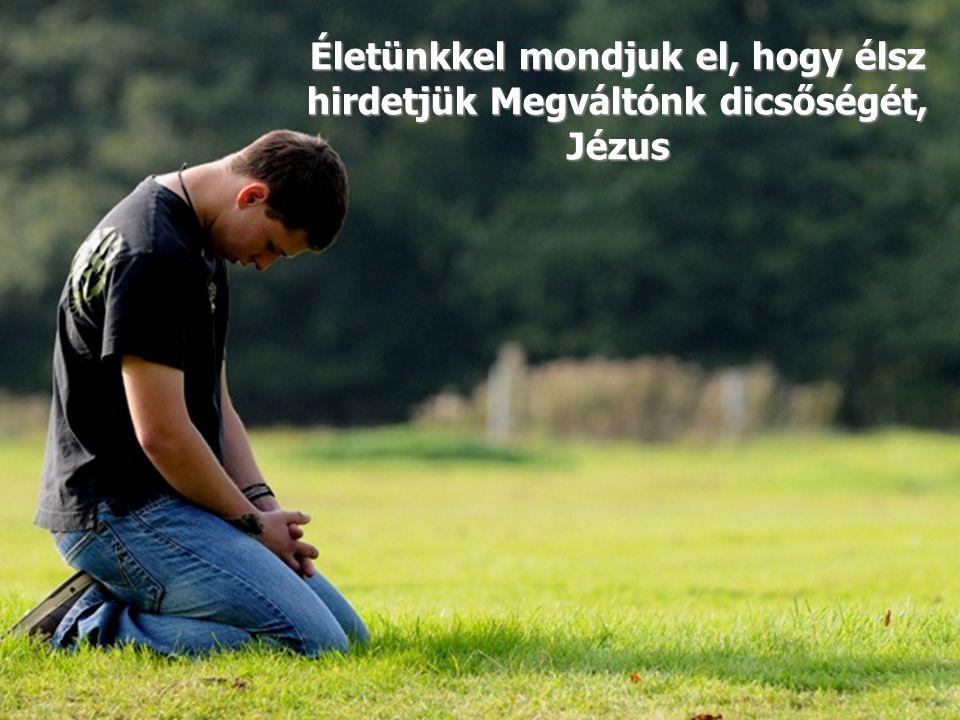 Életünkkel mondjuk el, hogy élsz hirdetjük Megváltónk dicsőségét, Jézus