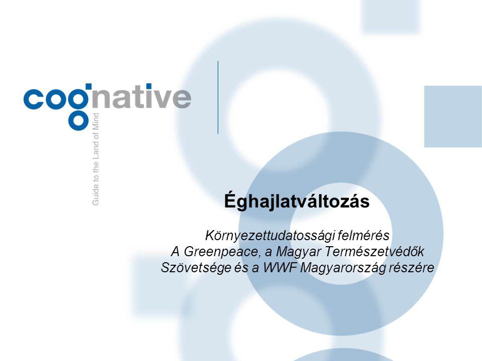 Éghajlatváltozás Környezettudatossági felmérés A Greenpeace, a Magyar Természetvédők Szövetsége és a WWF Magyarország részére