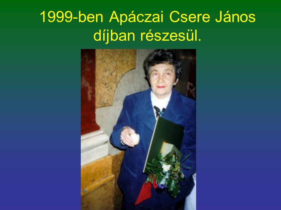 1999-ben Apáczai Csere János díjban részesül.