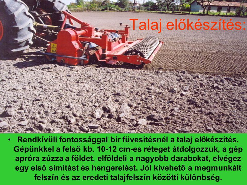 Talaj előkészítés: Rendkívüli fontossággal bír füvesítésnél a talaj előkészítés.