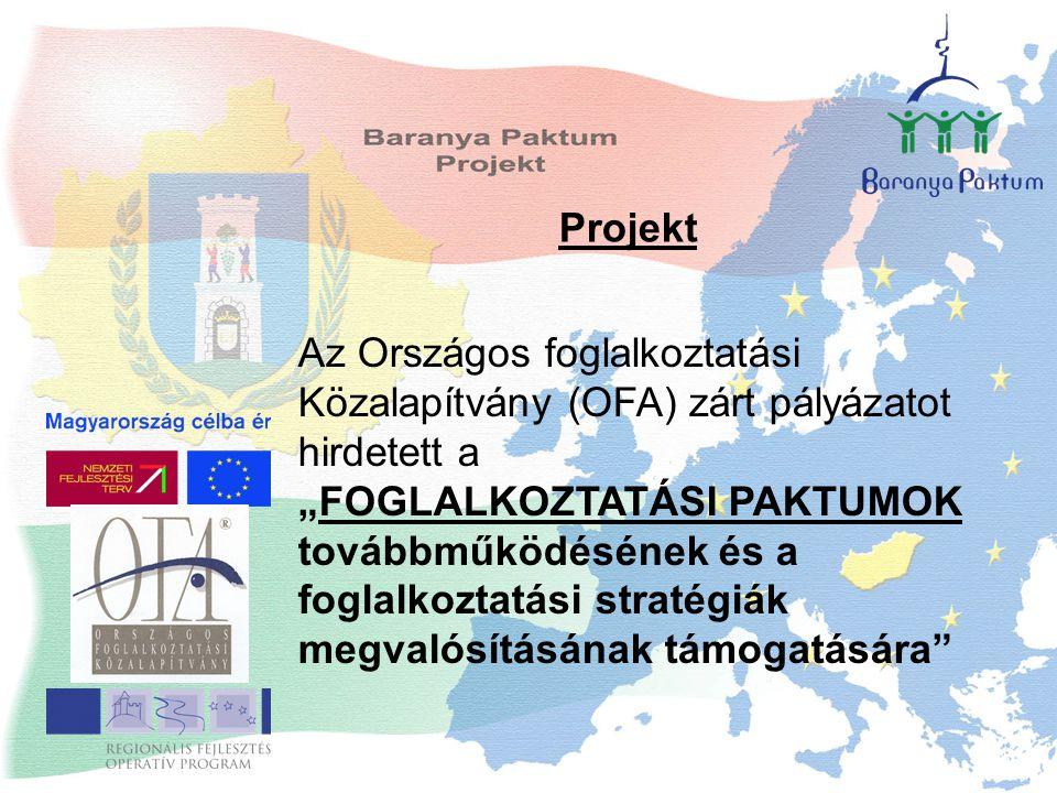 """Az Országos foglalkoztatási Közalapítvány (OFA) zárt pályázatot hirdetett a """"FOGLALKOZTATÁSI PAKTUMOK továbbműködésének és a foglalkoztatási stratégiák megvalósításának támogatására Projekt"""
