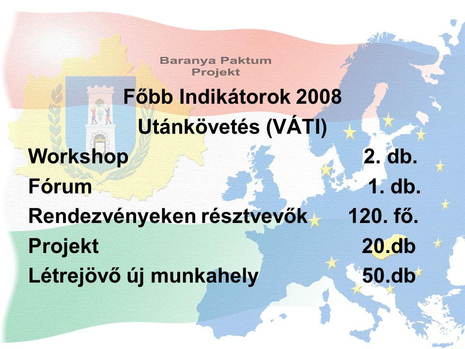 Főbb Indikátorok 2008 Utánkövetés (VÁTI) Workshop 2.
