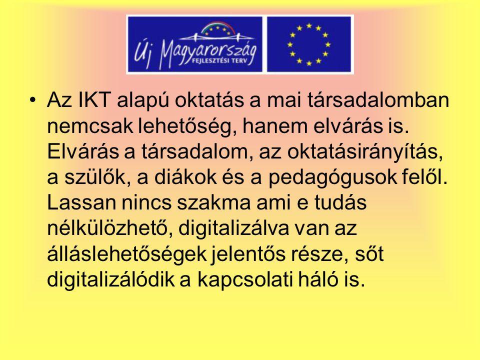 Az IKT alapú oktatás a mai társadalomban nemcsak lehetőség, hanem elvárás is.