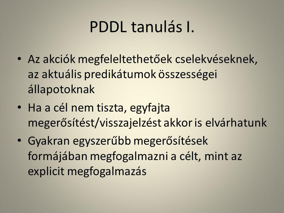 PDDL tanulás I.