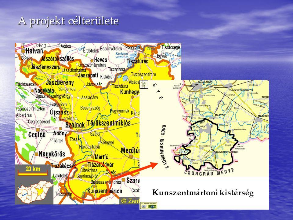 A Kunszentmártoni kistérségről… ● 11 település alkotja: Kunszentmárton, Öcsöd, Cserkeszőlő, Szelevény, Csépa, Tiszasas, Tiszakürt, Tiszainoka, Nagyrév, Cibakháza, Tiszaföldvár ● Lakosság: 39 686 fő ● Terület: 57 649 ha ● Munkanélküliségi ráta: 16.4 % ● Regisztrált munkanélküliek: 2583 fő 91/2001 (VI.15.) kormányrendelet alapján a 48 leghátrányosabb kistérség között