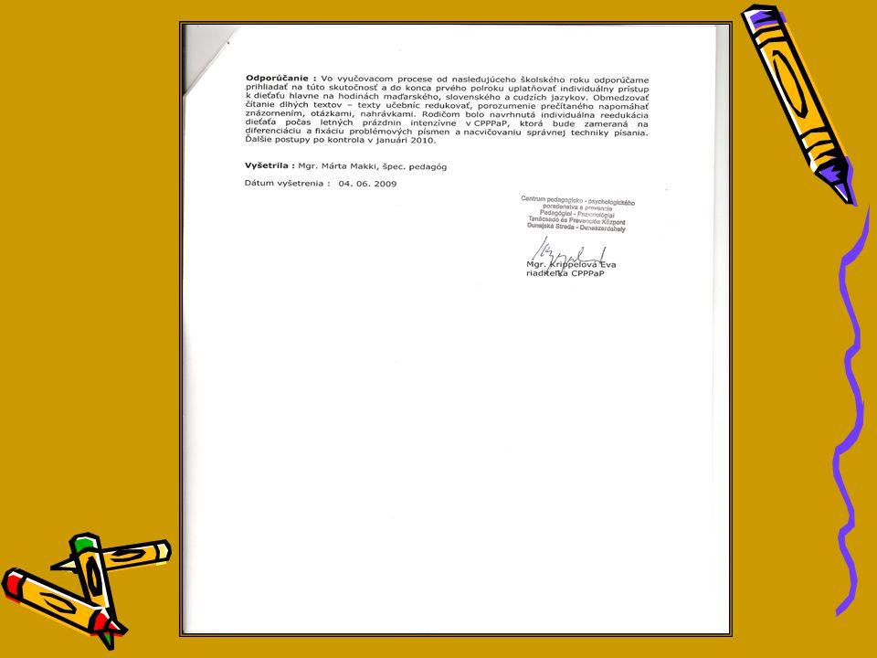 ŠP správa obsahuje: A GYP szakvélemény a köv.
