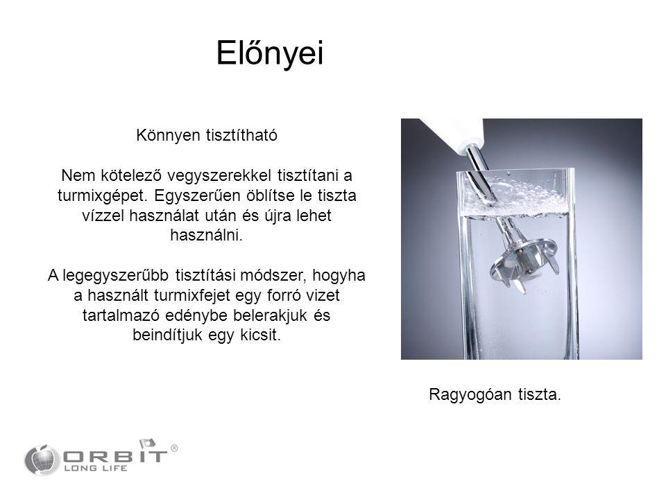 Könnyen tisztítható Nem kötelező vegyszerekkel tisztítani a turmixgépet. Egyszerűen öblítse le tiszta vízzel használat után és újra lehet használni. A