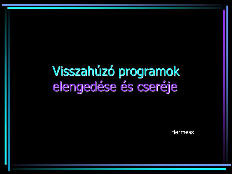 Visszahúzó programok elengedése és cseréje Hermess