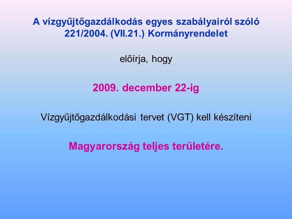 A vízgyűjtőgazdálkodás egyes szabályairól szóló 221/2004.