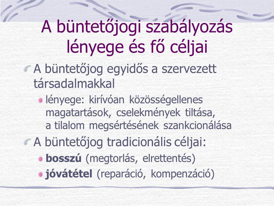 """Bűncselekmények a feudális korban Árpád-kori csoportosítás közbűncselekmények (közrend, """"az ország békéje sérül) magánbűncselekmények (az állam csak segítséget, támpontot ad) valláserkölcs elleni deliktumok (a kereszténység meghonosítása érdekében kriminalizál bizonyos cselekményeket, büntetés: """"az egyház törvényei szerint )"""