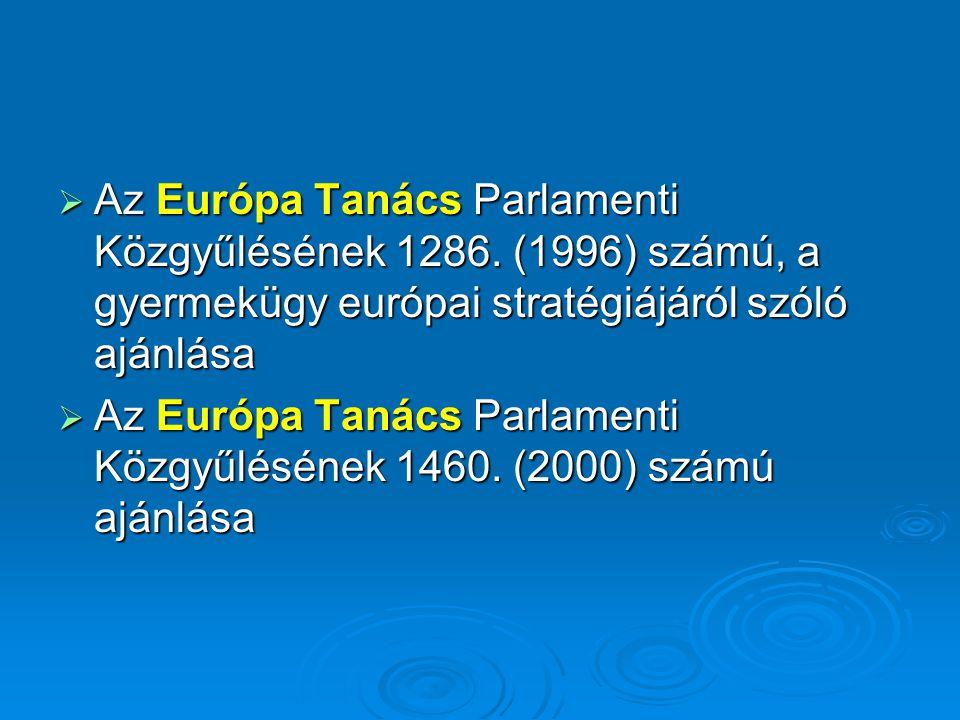  Az Európa Tanács Parlamenti Közgyűlésének 1286.