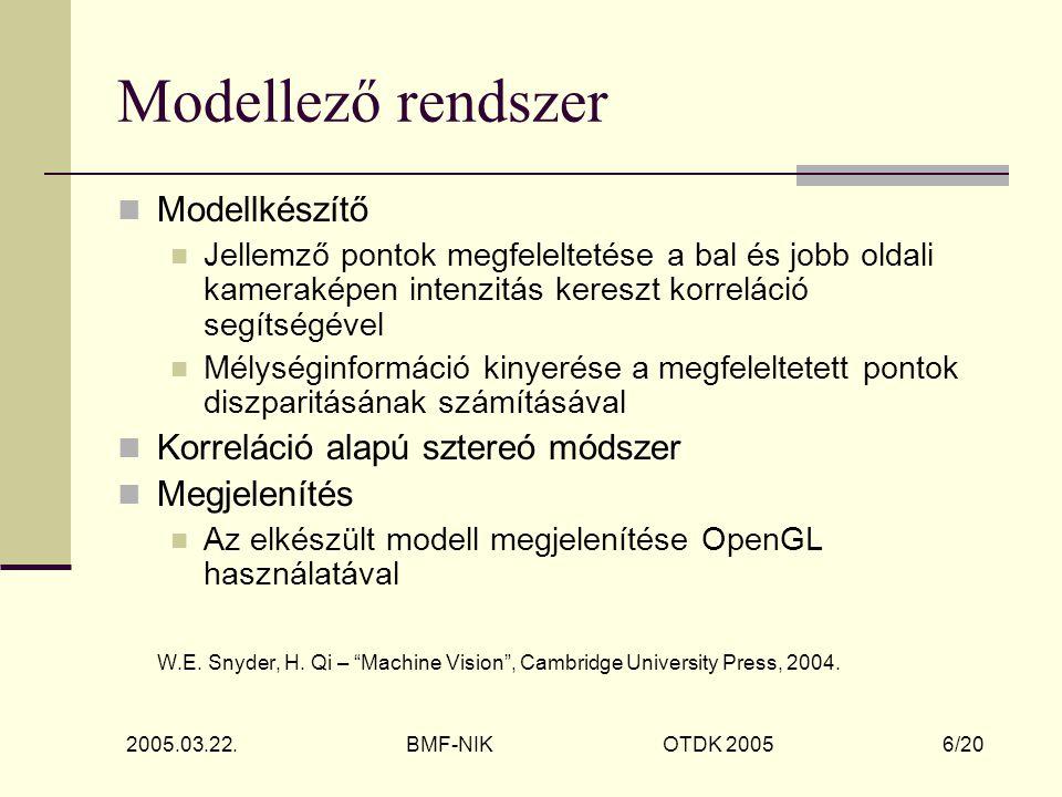 2005.03.22.BMF-NIK OTDK 2005 7/20 Tartalom alapú képkinyerés - 1 J.