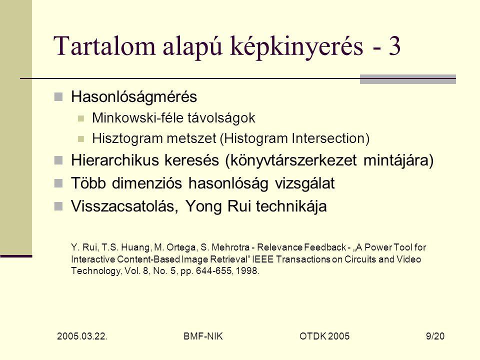 2005.03.22.BMF-NIK OTDK 2005 20/20 Köszönöm a figyelmet.