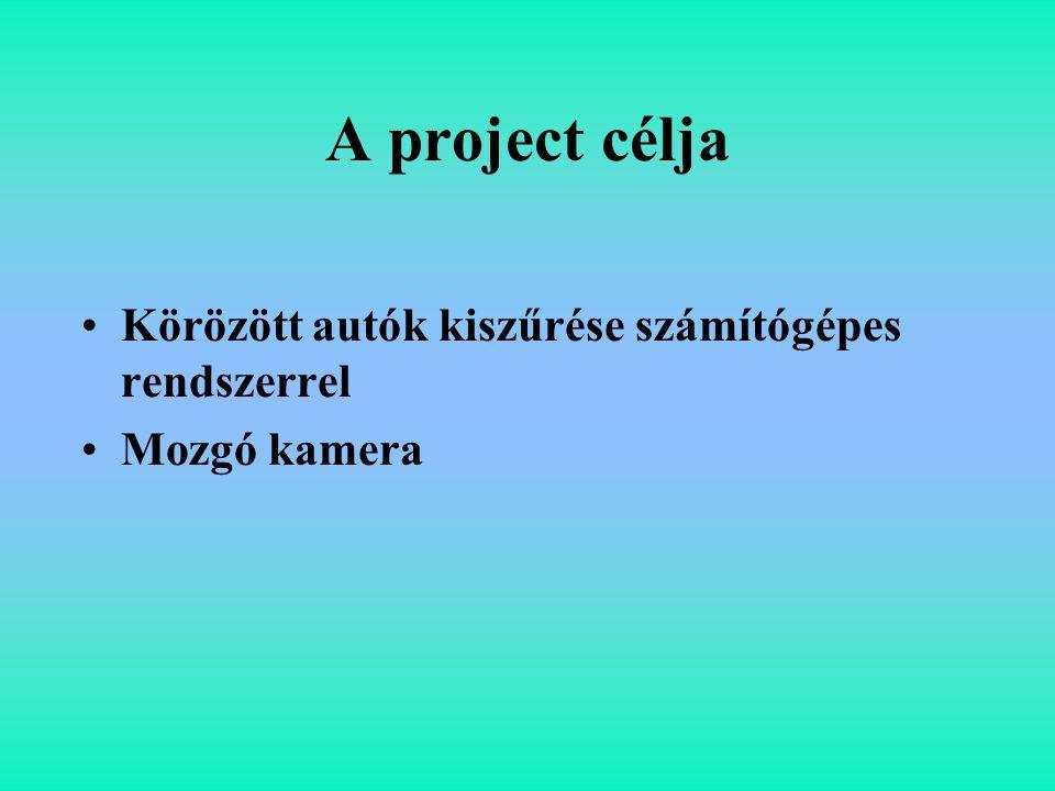 A project célja Körözött autók kiszűrése számítógépes rendszerrel Mozgó kamera