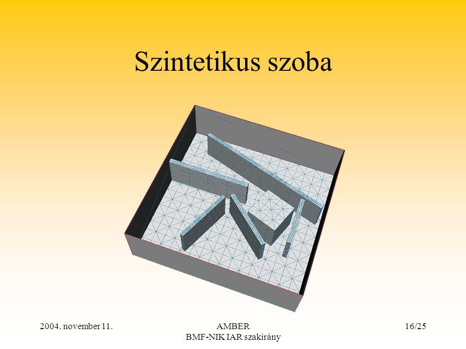 2004. november 11.AMBER BMF-NIK IAR szakirány 16/25 Szintetikus szoba