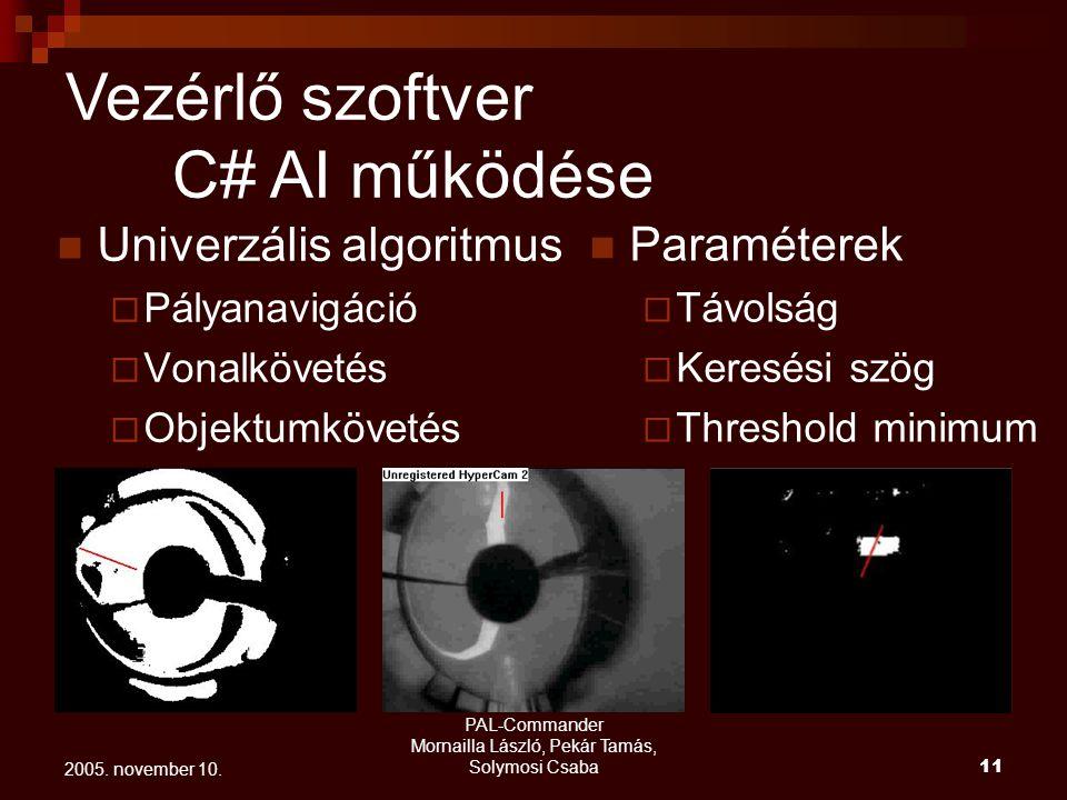 PAL-Commander Mornailla László, Pekár Tamás, Solymosi Csaba 12 2005.