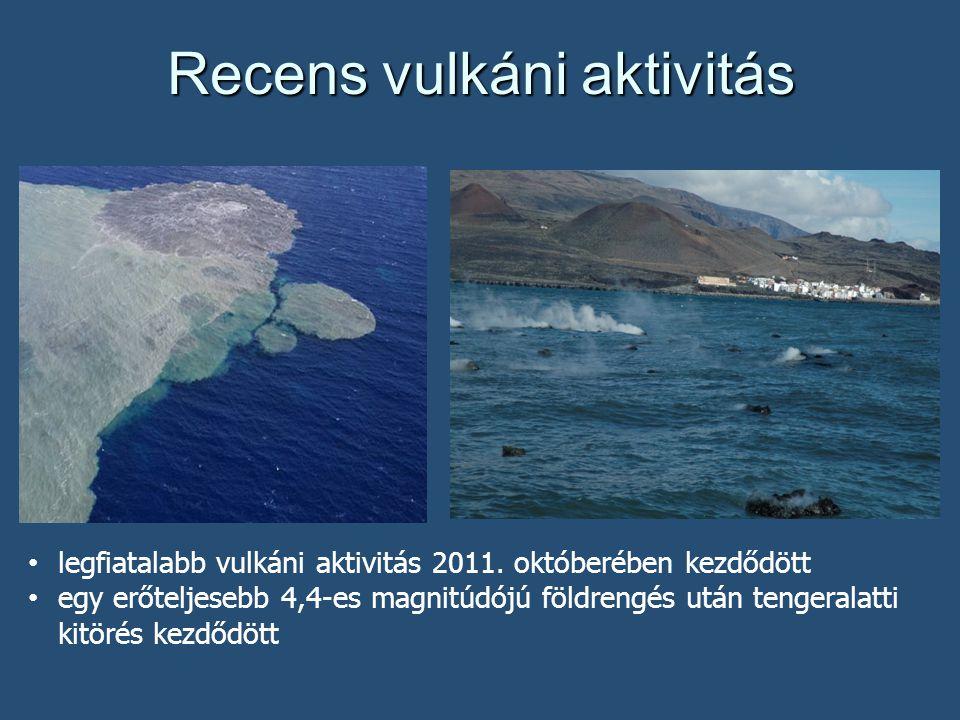 Recens vulkáni aktivitás legfiatalabb vulkáni aktivitás 2011.