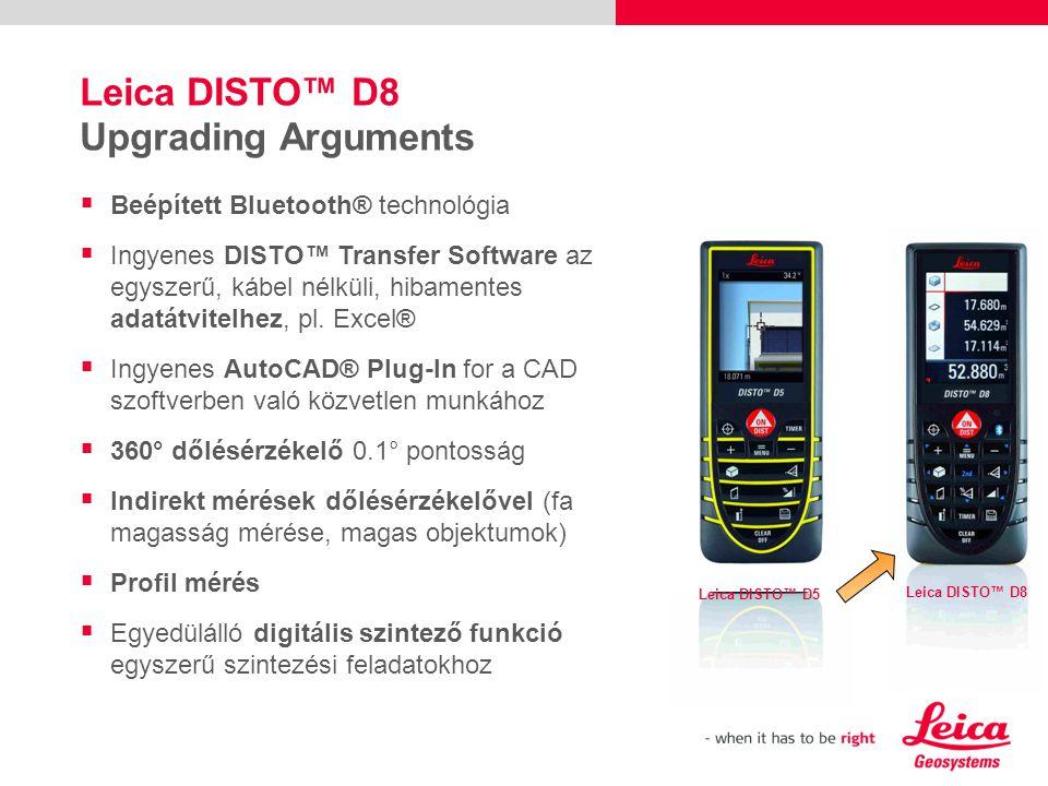  Beépített Bluetooth® technológia  Ingyenes DISTO™ Transfer Software az egyszerű, kábel nélküli, hibamentes adatátvitelhez, pl.
