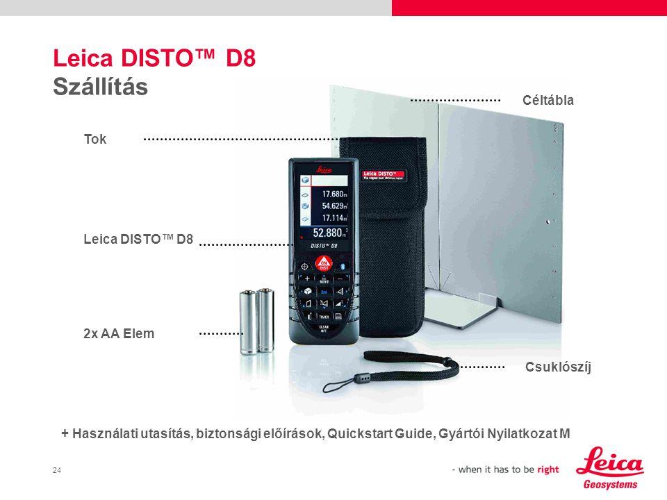 25 Leica DISTO™ D8 Tartozékok GPS-bot/Állvány rögzytő egység Art.