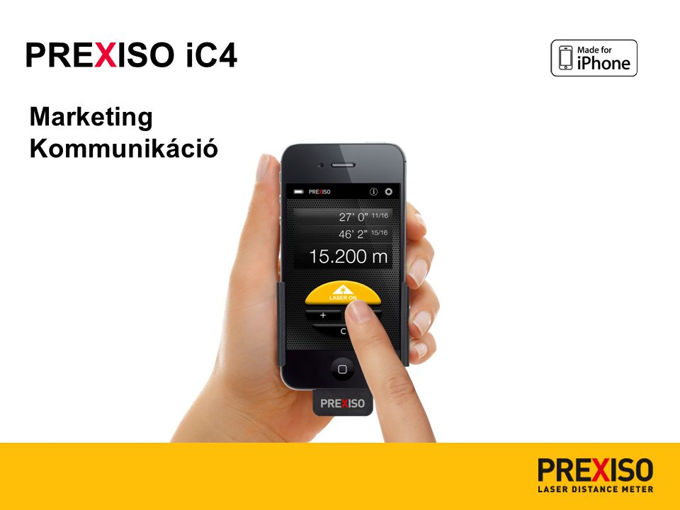 Marketing Kommunikáció PREXISO iC4