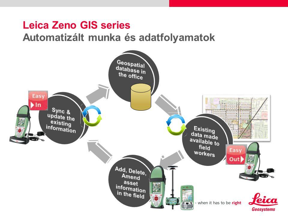 Leica Zeno GIS series Automatizált munka és adatfolyamatok