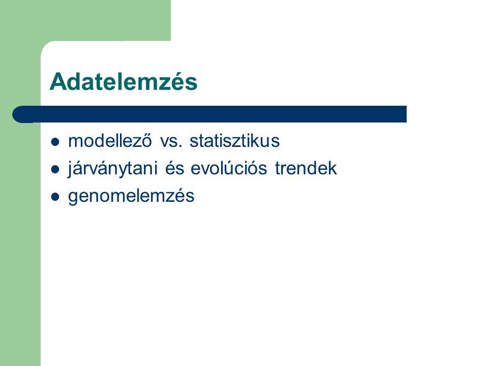 Adatelemzés modellező vs. statisztikus járványtani és evolúciós trendek genomelemzés