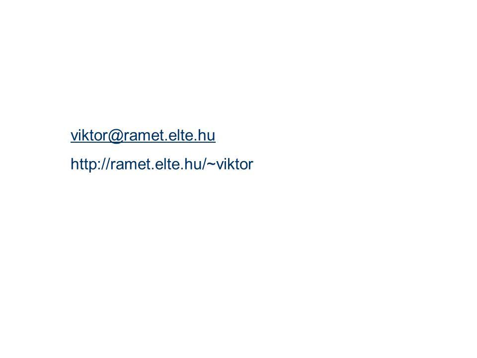viktor@ramet.elte.hu http://ramet.elte.hu/~viktor