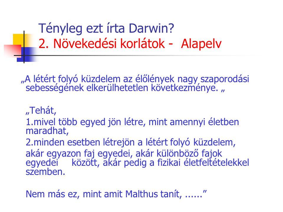 Tényleg ezt írta Darwin. 2.