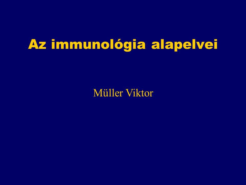 Az immunológia alapelvei Müller Viktor