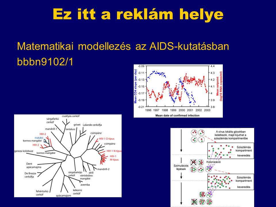 Ez itt a reklám helye Matematikai modellezés az AIDS-kutatásban bbbn9102/1