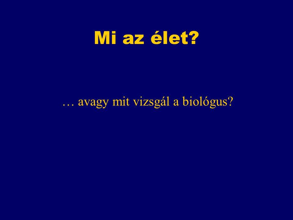Mi az élet? … avagy mit vizsgál a biológus?