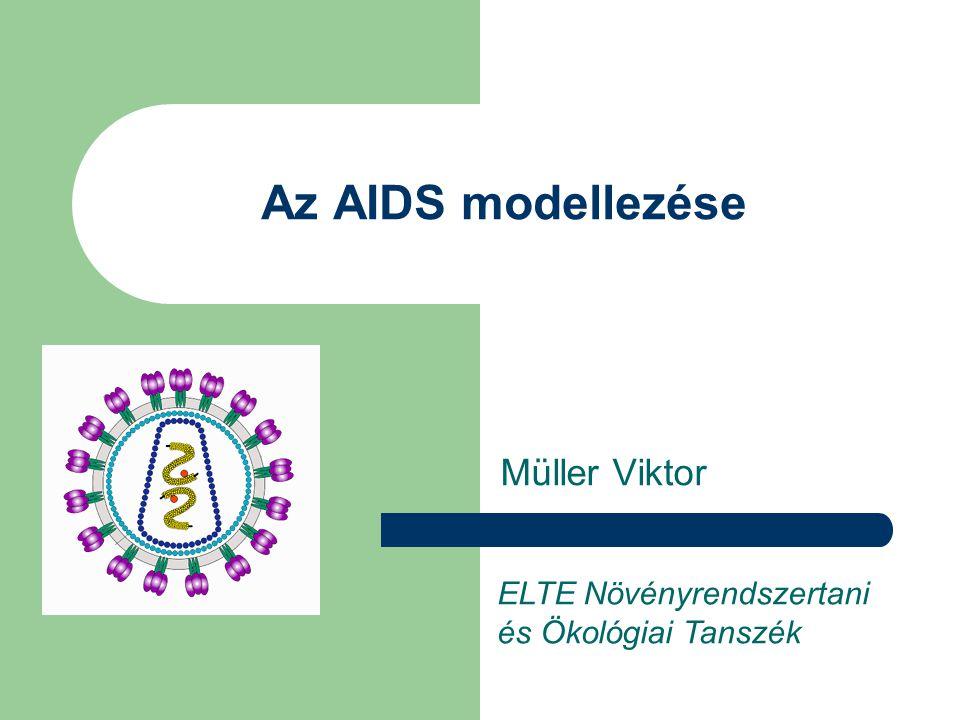 Az AIDS modellezése Müller Viktor ELTE Növényrendszertani és Ökológiai Tanszék
