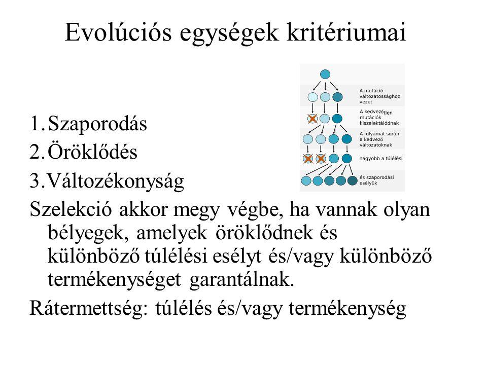 Lamarckizmus A megfelelő variáns jelenik meg.A szerzett tulajdonságok öröklődnek.