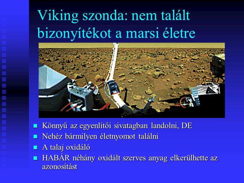 Viking szonda: nem talált bizonyítékot a marsi életre Könnyű az egyenlítői sivatagban landolni, DE Nehéz bármilyen életnyomot találni A talaj oxidáló HABÁR néhány oxidált szerves anyag elkerülhette az azonosítást