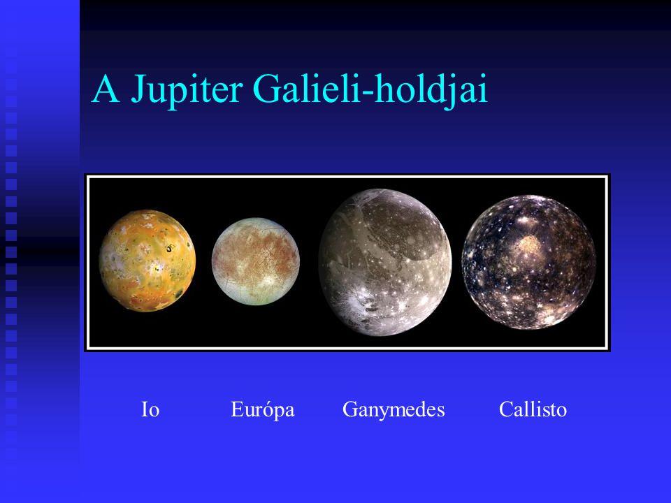 A Jupiter Galieli-holdjai IoEurópa GanymedesCallisto