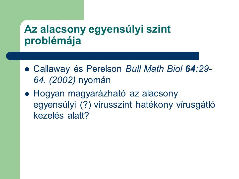 Az alacsony egyensúlyi szint problémája Callaway és Perelson Bull Math Biol 64:29- 64.