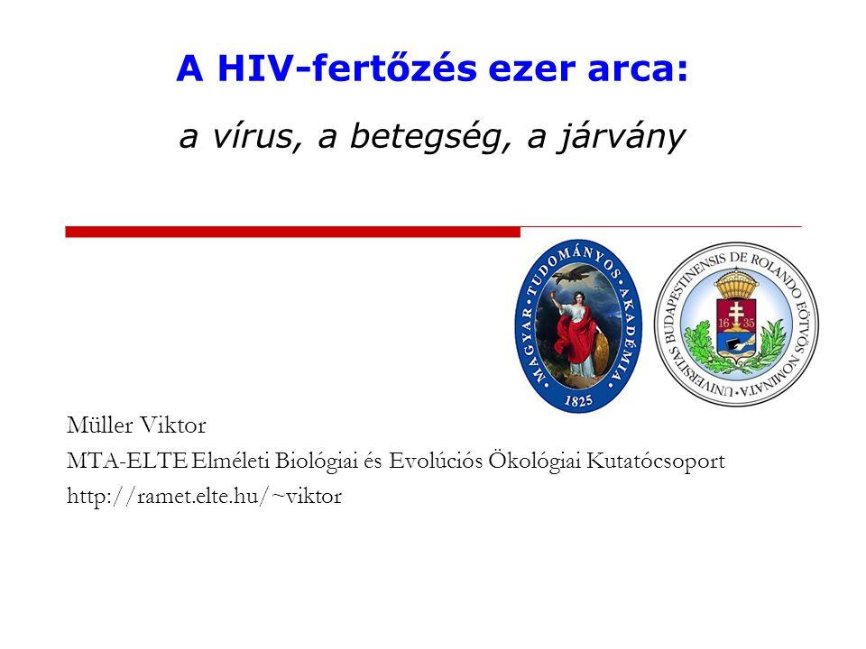 Az AIDS felfedezése 1981: az AIDS felismerése Acquired Immune Deficiency Syndrome 1983: a kórokozó izolálása Human Immunodeficiency Virus 2008: Orvosi Nobel-díj Françoise Barré-Sinoussi és Luc Montagnier